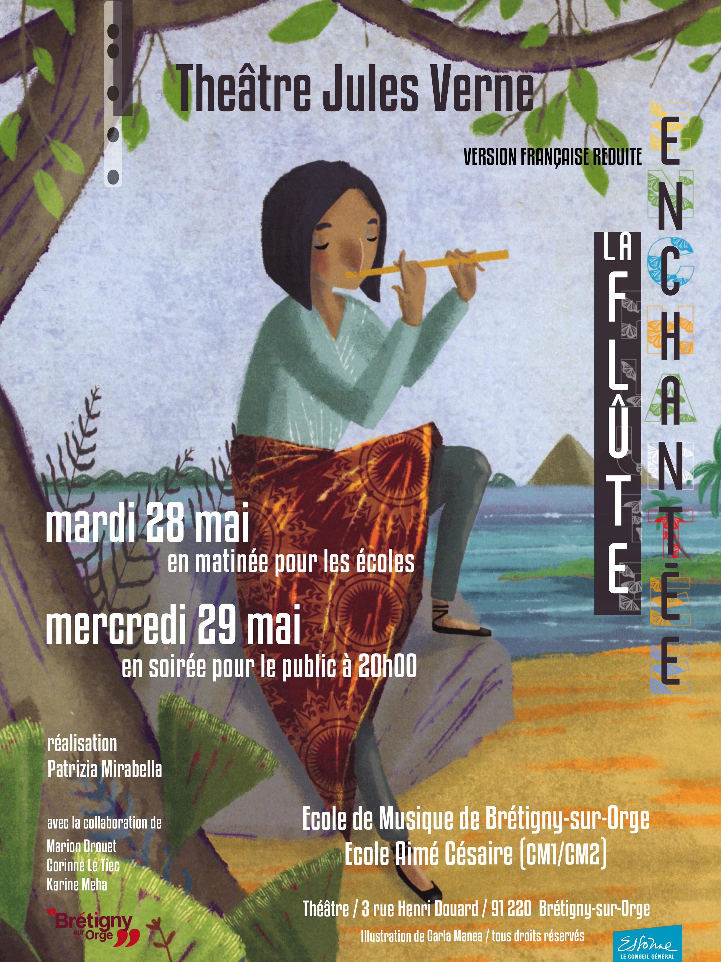 Affiche geste musicien flûte enchantée Mozart